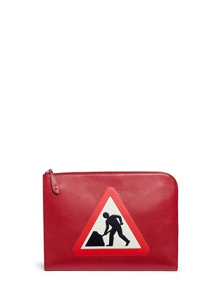 Main View - Click To Enlarge - Anya Hindmarch - 'Men at Work' leather document case