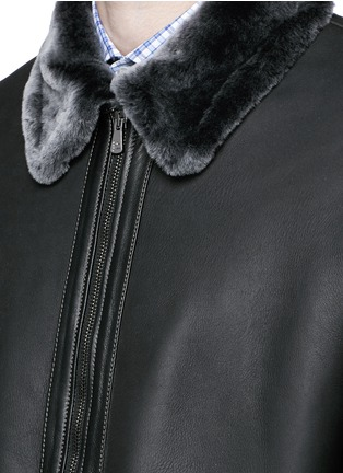 Detail View - Click To Enlarge - ISAIA - Shearling blouson jacket