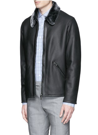 Front View - Click To Enlarge - ISAIA - Shearling blouson jacket