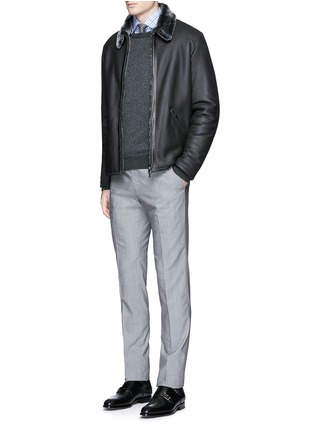 Figure View - Click To Enlarge - ISAIA - Shearling blouson jacket