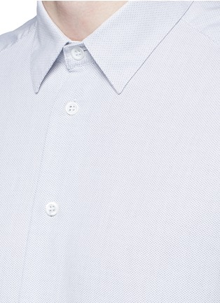Detail View - Click To Enlarge - Barena - 'Coppi' cotton pindot dobby shirt