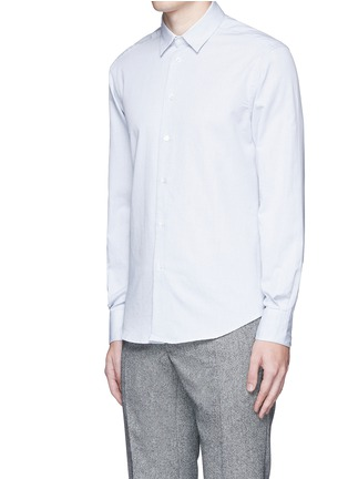 Front View - Click To Enlarge - Barena - 'Coppi' cotton pindot dobby shirt
