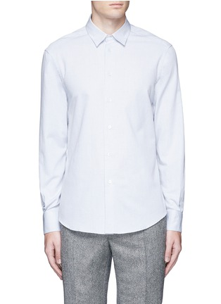 Main View - Click To Enlarge - Barena - 'Coppi' cotton pindot dobby shirt