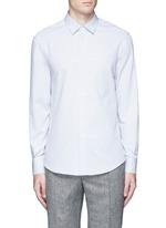 'Coppi' cotton pindot dobby shirt