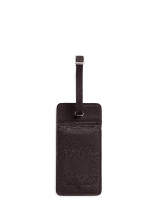 Bynd Artisan - Double window leather luggage tag