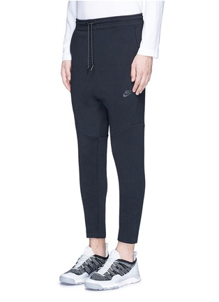 Front View - Click To Enlarge - Nike - 'Tech Fleece' cropped drawstring sweatpants
