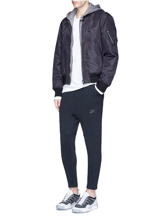 Figure View - Click To Enlarge - Nike - 'Tech Fleece' cropped drawstring sweatpants