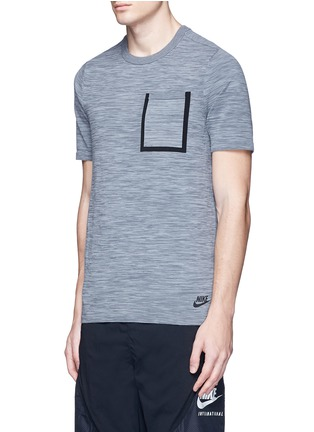 Front View - Click To Enlarge - Nike - 'Tech Knit' pocket T-shirt