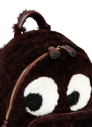 Detail View - Click To Enlarge - Anya Hindmarch - 'Ghost' mini shearling backpack