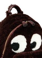 'Ghost' mini shearling backpack