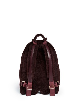 Back View - Click To Enlarge - Anya Hindmarch - 'Ghost' mini shearling backpack