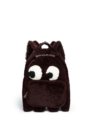 Main View - Click To Enlarge - Anya Hindmarch - 'Ghost' mini shearling backpack