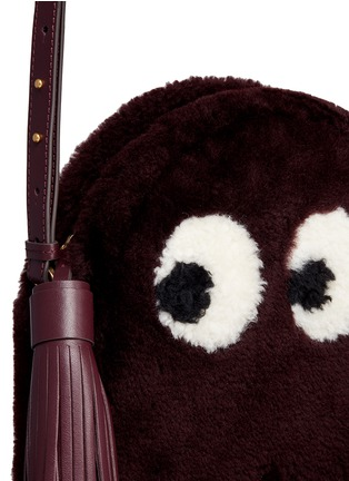 Detail View - Click To Enlarge - Anya Hindmarch - 'Ghost' shearling crossbody bag