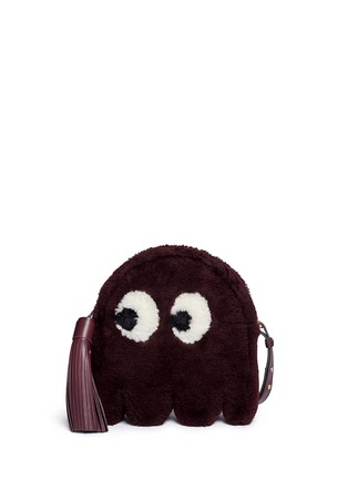 Main View - Click To Enlarge - Anya Hindmarch - 'Ghost' shearling crossbody bag