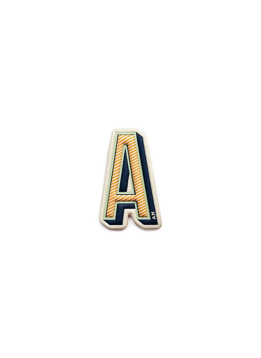 x Chaos Fashion A alphabet leather sticker by Anya Hindmarch
