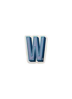 Anya Hindmarchx Chaos Fashion 'W' alphabet leather sticker