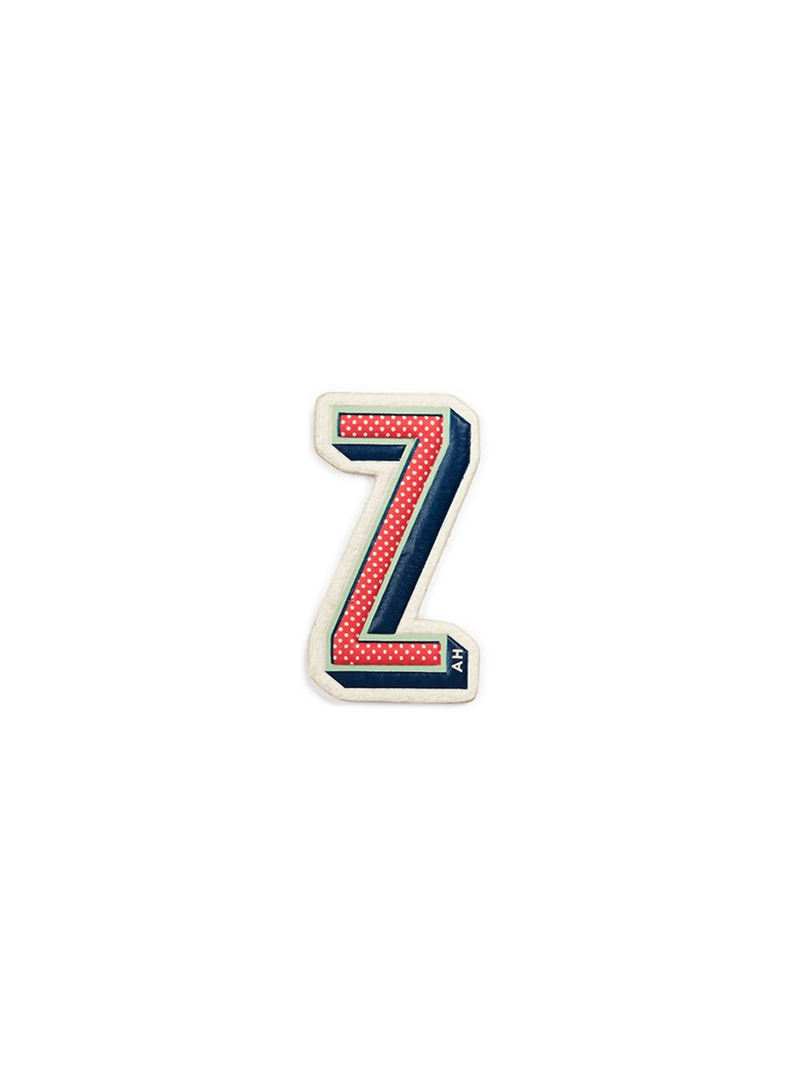x Chaos Fashion Z alphabet leather sticker by Anya Hindmarch
