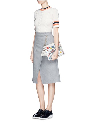 Figure View - Click To Enlarge - Anya Hindmarch - 'Stickered-up Georgiana' leather clutch
