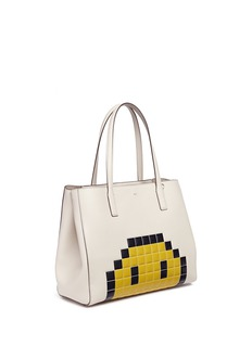 Anya Hindmarch 'Pixel Smiley Shopper Ebury' leather tote