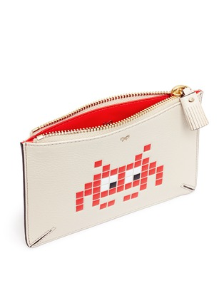 Anya Hindmarch - 'Small Loose Pocket' character embossed leather zip pouch