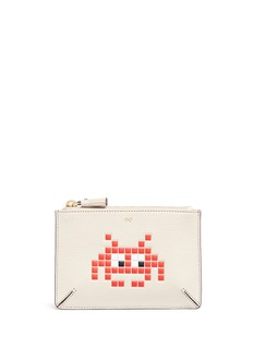 Anya Hindmarch 'Small Loose Pocket' character embossed leather zip pouch