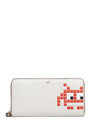 Main View - Click To Enlarge - Anya Hindmarch - 'Space Invaders' embossed leather continental wallet