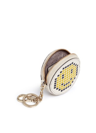 Anya Hindmarch - 'Pixel Smiley' embossed leather coin pouch