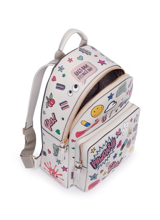 Anya Hindmarch - 'All Over Sticker' mini embossed leather backpack