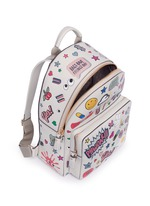 'All Over Sticker' mini embossed leather backpack