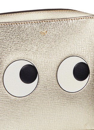 Anya Hindmarch - 'Eyes' embossed metallic leather crossbody bag
