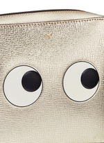 'Eyes' embossed metallic leather crossbody bag