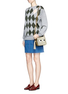 Anya Hindmarch 'Eyes' embossed metallic leather crossbody bag