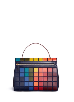 Back View - Click To Enlarge - Anya Hindmarch - 'Pixels Bathurst' patchwork suede satchel
