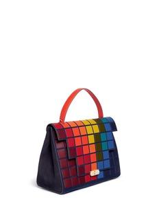 Anya Hindmarch'Pixels Bathurst' patchwork suede satchel