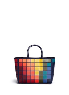 Anya Hindmarch 'Ebury Small Giant Pixel' patchwork suede tote