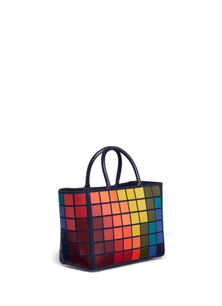 Figure View - Click To Enlarge - Anya Hindmarch - 'Ebury Small Giant Pixel' patchwork suede tote