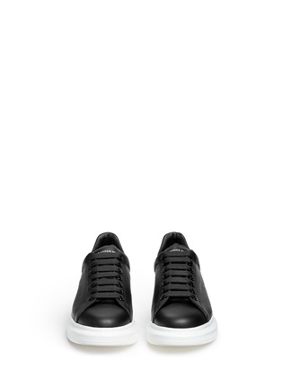 Front View - Click To Enlarge - Alexander McQueen - 'Larry' leather sneakers