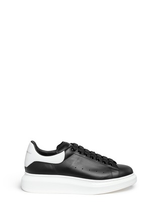 Main View - Click To Enlarge - Alexander McQueen - 'Larry' leather sneakers
