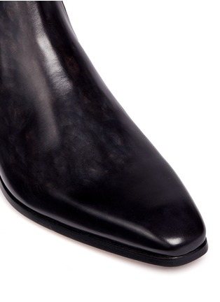 Magnanni - Burnished leather Chelsea boots