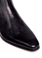 Burnished leather Chelsea boots