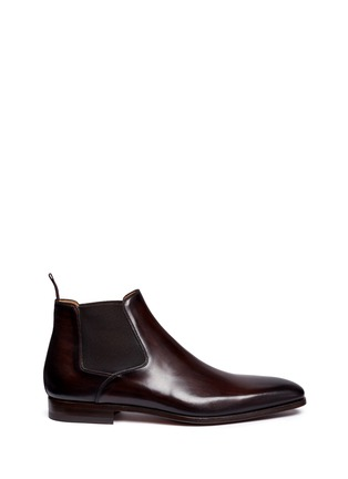 Main View - Click To Enlarge - Magnanni - Brushstroke finish leather Chelsea boots