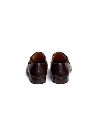 Back View - Click To Enlarge - Magnanni - Leather double monk strap shoes