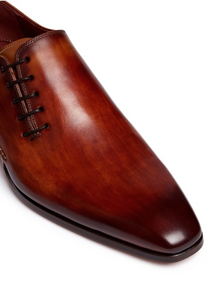 Detail View - Click To Enlarge - Magnanni - Artesano sole side lace-up leather Oxfords