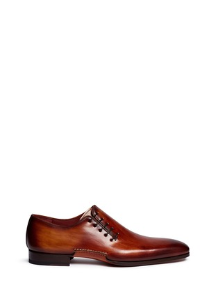 Main View - Click To Enlarge - Magnanni - Artesano sole side lace-up leather Oxfords
