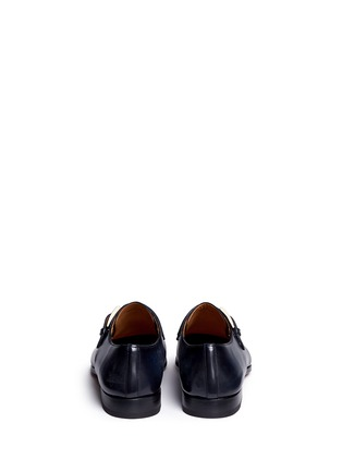 Back View - Click To Enlarge - Magnanni - Brushstroke finish leather monk strap shoes