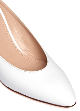 Detail View - Click To Enlarge - Mansur Gavriel - Leather pump slippers
