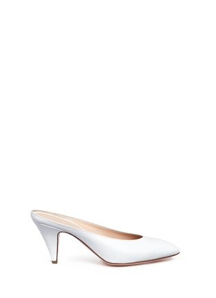 Main View - Click To Enlarge - Mansur Gavriel - Leather pump slippers