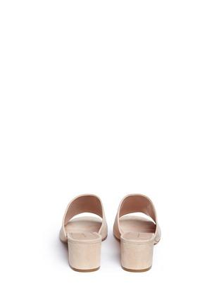 Back View - Click To Enlarge - Mansur Gavriel - Suede mule sandals