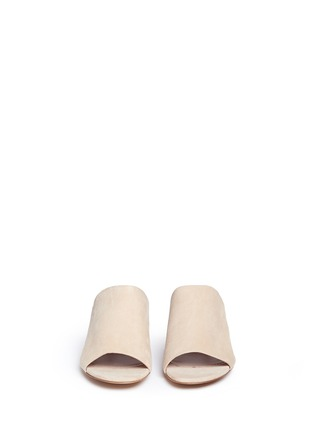 Front View - Click To Enlarge - Mansur Gavriel - Suede mule sandals