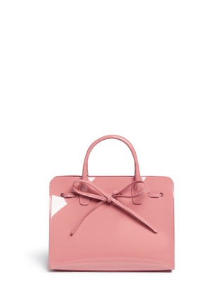 Detail View - Click To Enlarge - Mansur Gavriel - 'Mini Sun' patent leather drawstring tote